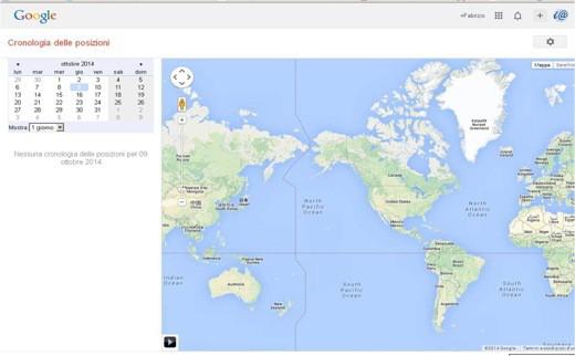 Cronologia delle Posizionni - Come non farsi localizzare da Google