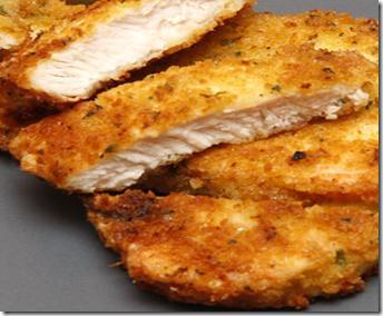 Pollo panato al latte al forno - Petti di pollo al latte panati e cotti al forno