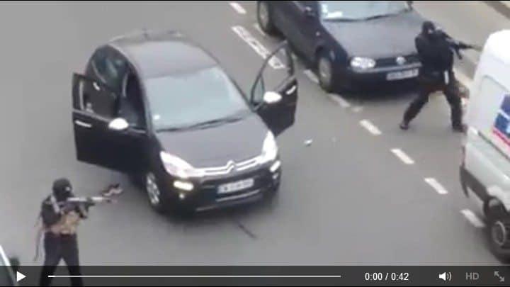 charlie hebdo attacco 2 - Video shock dell'attacco alla redazione di Charlie Hebdo