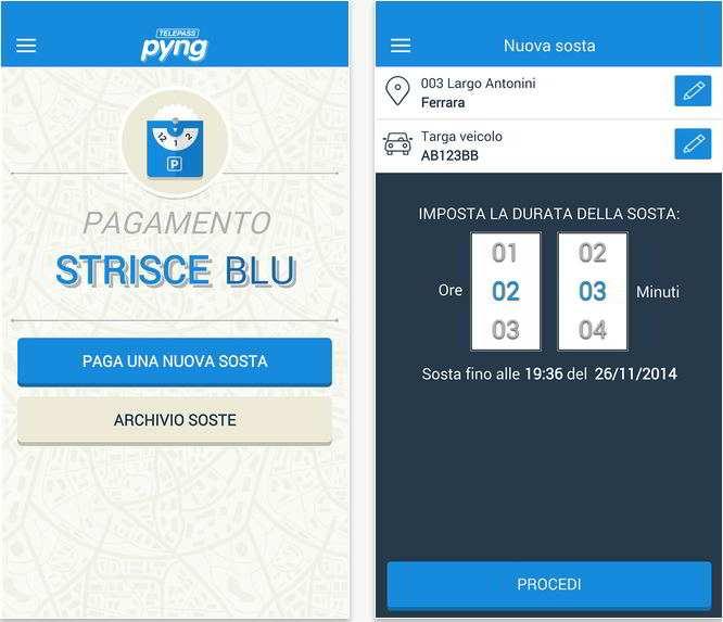 Pyng - Strisce blu: la sosta si paga con Pyng l'app di Telepass