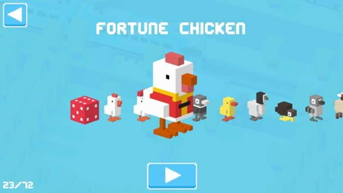 crossyroadfortunechicken - Come sbloccare i personaggi cinesi in Crossy Road