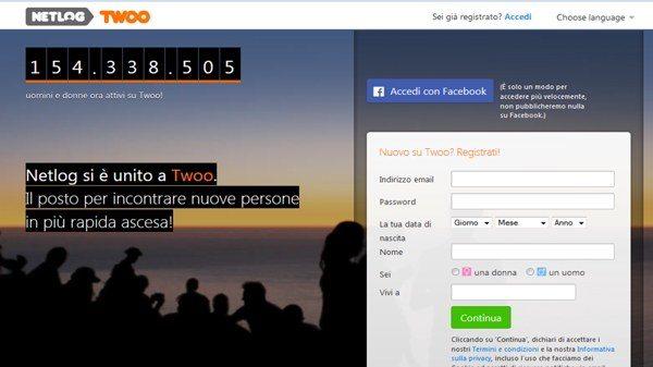 Come cancellarsi da Netlog Twoo - Come cancellare un account Twoo con utenti migrati da Netlog