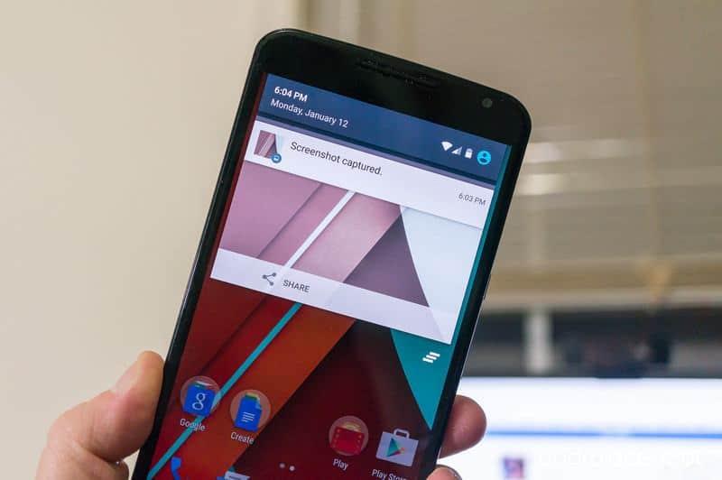 Nexus 6 come fare uno screenshot - Come eseguire e salvare lo screenshot (schermata) sul Nexus 6