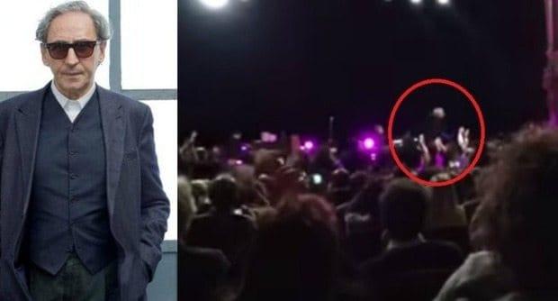 battiato cade dal palco - Il video della rovinosa caduta di Franco Battiato durante un concerto a Bari