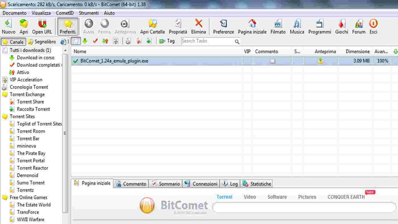 bitComet - Come sfruttare BitTorrent ed eMule in un unico programma