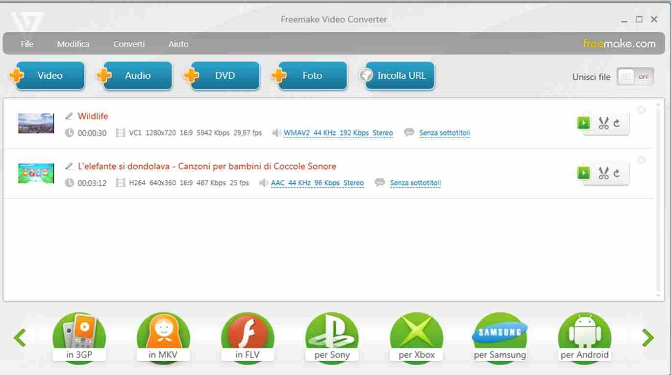 Freemake Video Converter - Come unire due video in uno