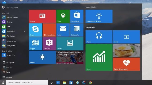 come provare Windows 10