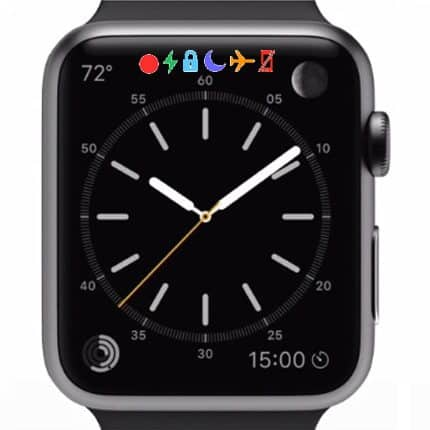 apple watch status bar icone - Barra di Stato Apple Watch: ecco cosa significano le icone