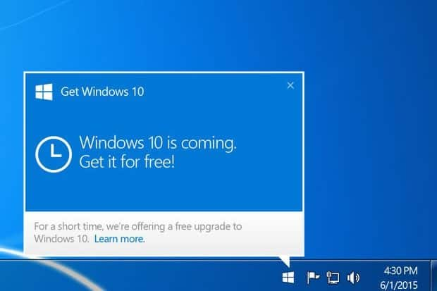 get windows 10 free upgrade icon - Come controllare se un PC è compatibile con Windows 10