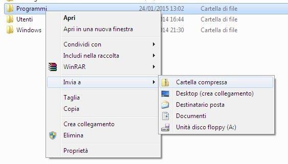 Invia a Windows - Aggiungere programmi nel menu Invia a