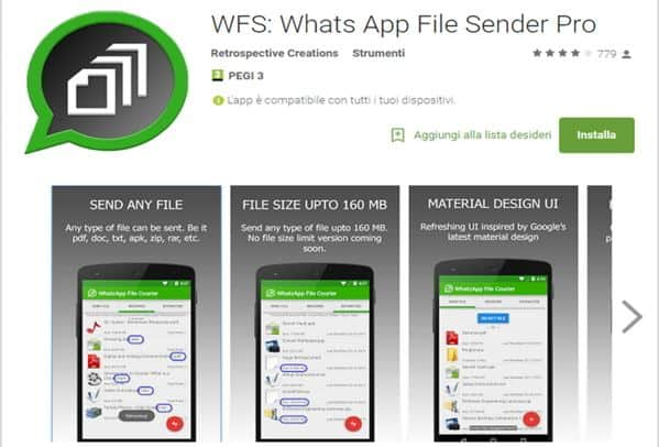 WFS WhatsApp File Sender - Come inviare foto e video con WhatsApp nelle dimensioni originali