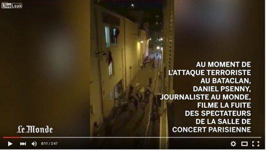 Psenny Le monde Bataclan - Video amatoriale dell'attacco terroristico al teatro Bataclan di Parigi