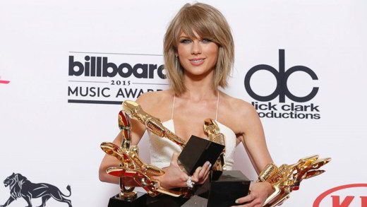 taylor swift - Agli American Music Awards 2015 vincono Taylor Swift e gli One Direction