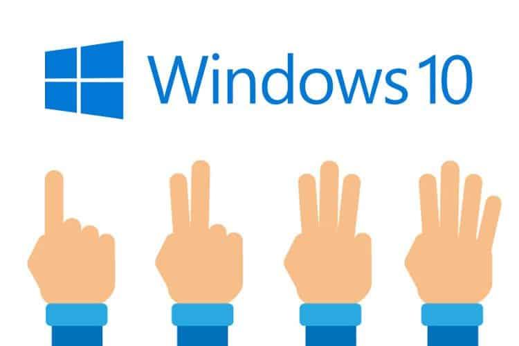 le funzioni per il controllo a gesti in Windows 10