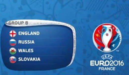 Girone B - FantaEuropeo 2016: Girone B (Inghilterra, Russia, Slovacchia e Galles)