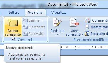 come inserire un commento in Word - Come inserire un commento in un documento Word