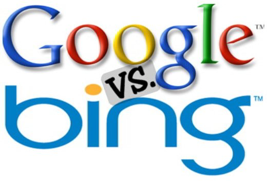 google vs bing logo - Impostare Google come motore di ricerca in Windows 10