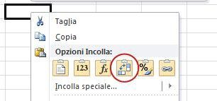 incolla speciale - Come scambiare righe e colonne in Excel