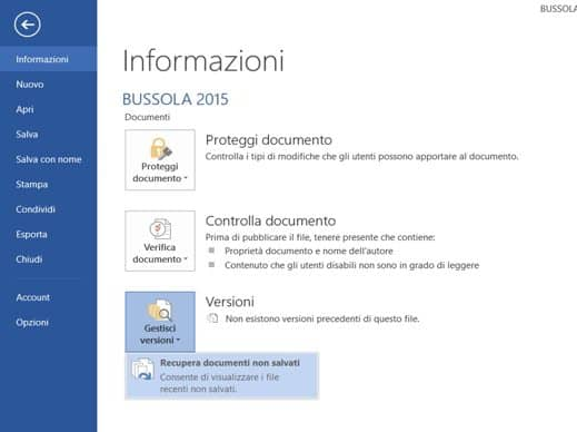 recupera documenti non salvati word - Come recuperare un documento Word