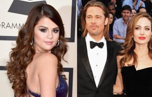 gomez pitt jolie - Dietro il divorzio tra Brad Pitt e Angelina Jolie ci sarebbe Selena Gomez