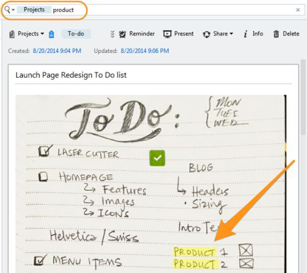 Evernote trovare testo in immagine - Come cercare il testo in un'immagine