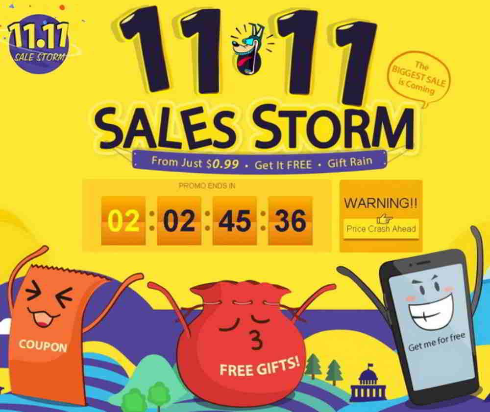 Gearbest 11.11 - Gearbest lancia 11.11 Sales Storm con offerte e sconti speciali
