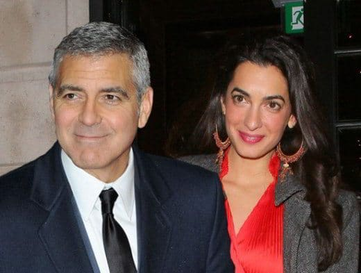 George Clooney Amal Alamuddin aspettano figli - George Clooney e la moglie Amal aspettano due gemelli