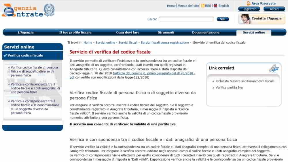Come verificare codice fiscale - Come verificare un Codice Fiscale