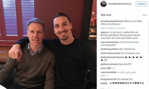 Marco Van Basten e Ibrahimovic