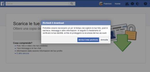 facebook avvia il mio archivio - Come recuperare foto e video su Facebook