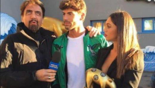 Valerio Staffelli con Cecilia Rodriguez e Francesco Monte