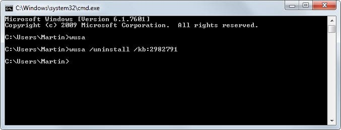 Disinstallare aggiornamenti Windows 10 da Prompt dei Comandi