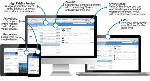 Zimbra client di posta open source