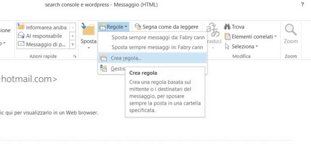 suono notifica email outlook