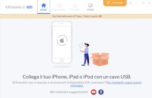 collegare iPhone al PC con USB