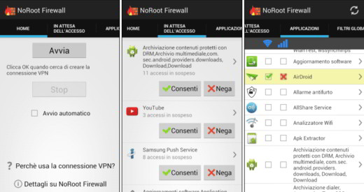 Come funziona NoRoot Firewall
