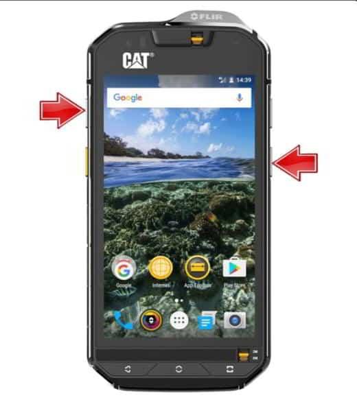 Come catturare schermata Cat S41