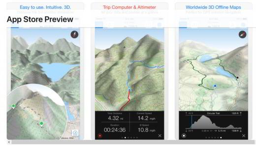 app per trekking iphone