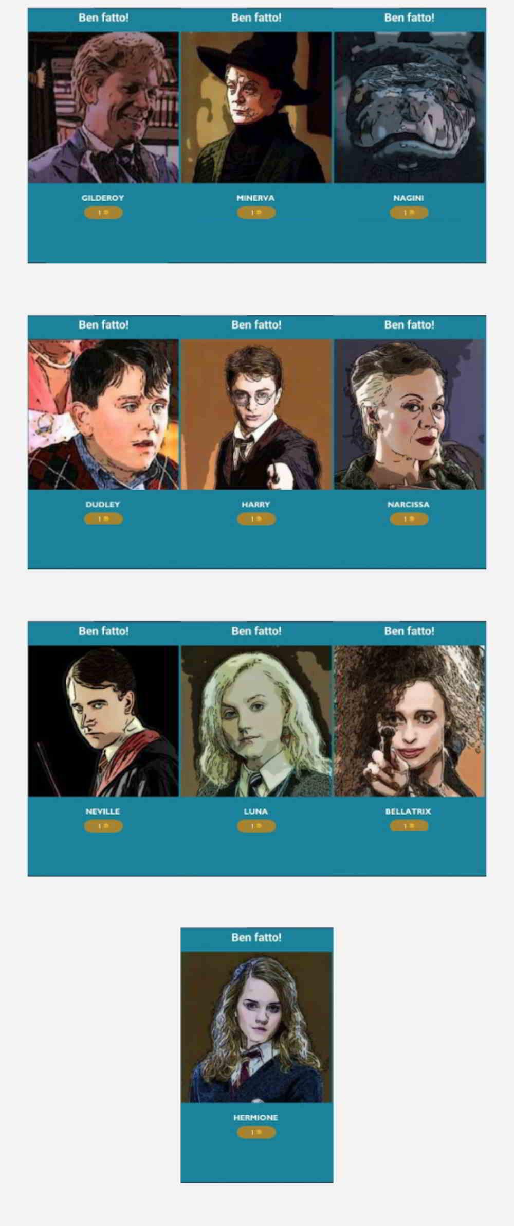 Quiz Harry Potter soluzioni