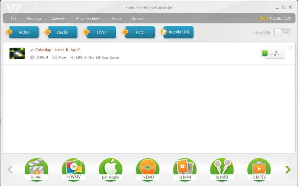 Come ridimensionare video con Freemake video converter