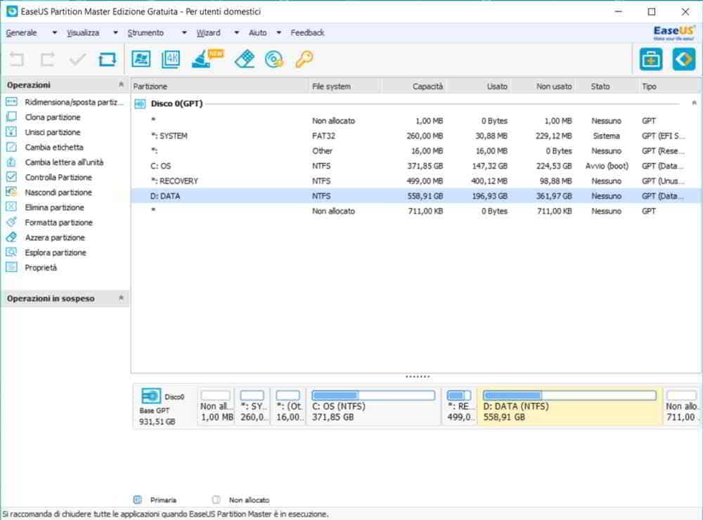 Partition Master Free miglior programma per partizionare hard disk
