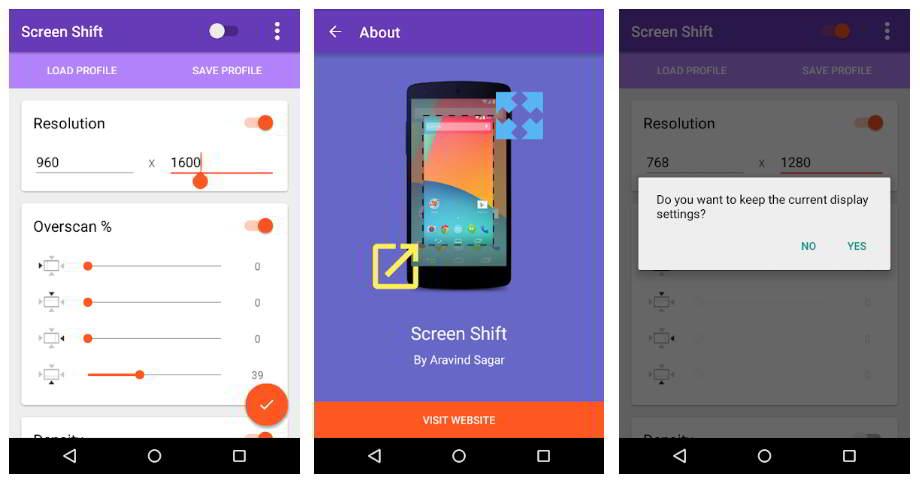 Come modificare risoluzione schermo Android con i permessi di root