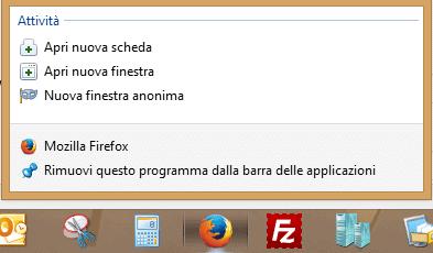 Icone barra delle applicazioni
