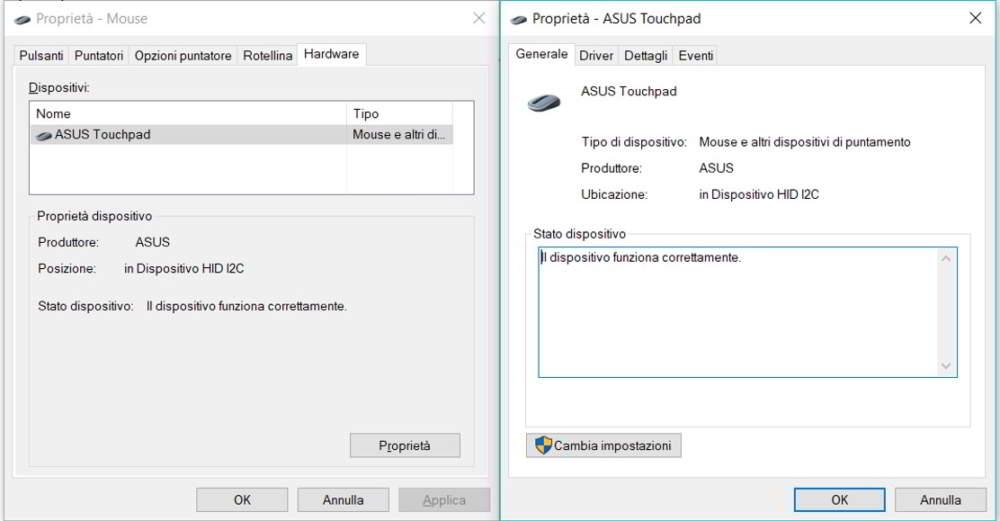 Disabilita touchpad windows 10