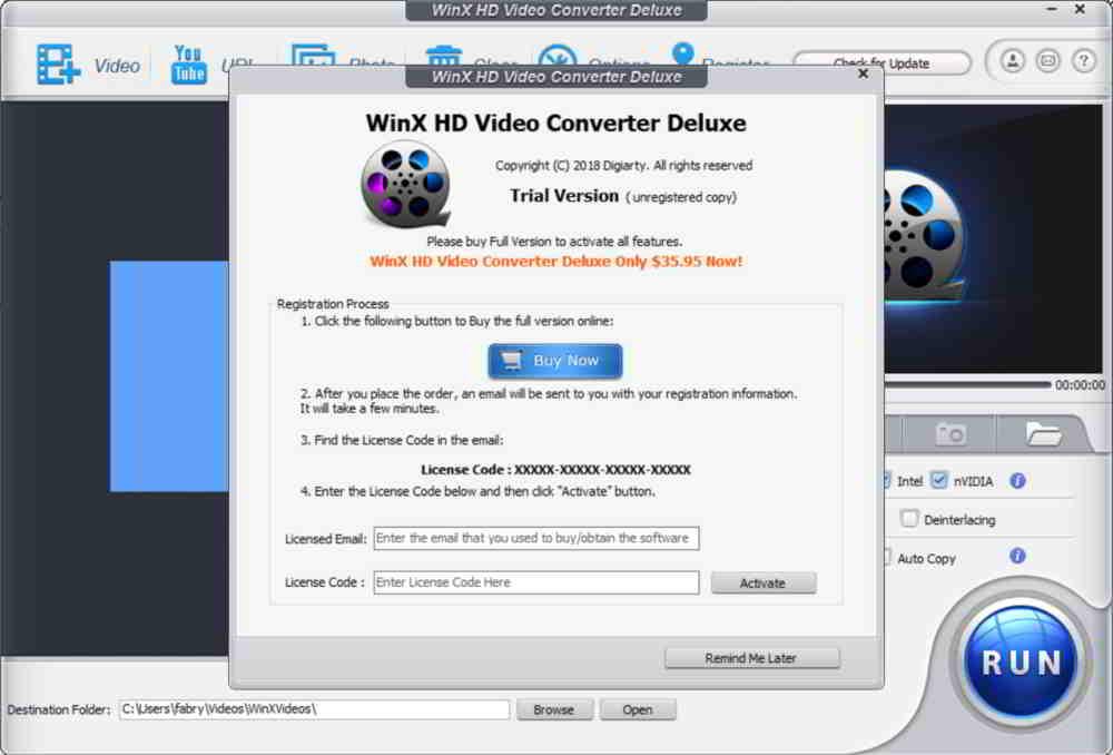 Giveaway con licenza gratis di WinX HD Video Converter Deluxe