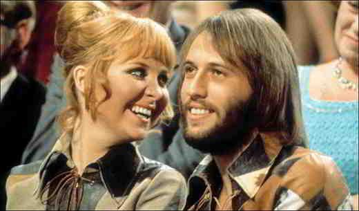 Maurice Gibb e Lulu Kennedy-Cairns