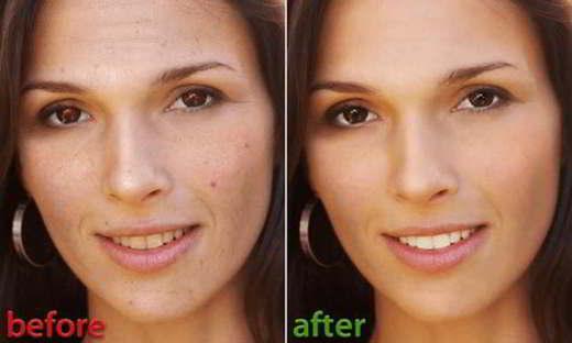 correggere difetti viso photoshop