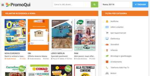 applicazione volantini supermercati