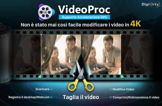 VideoProc IT - Come elaborare e ridimensionare i video GoPro 4K senza perdita di qualità con VideoProc