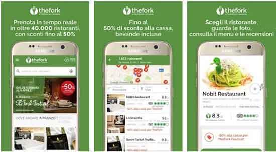 app per cercare ristorante dove mangiare bene